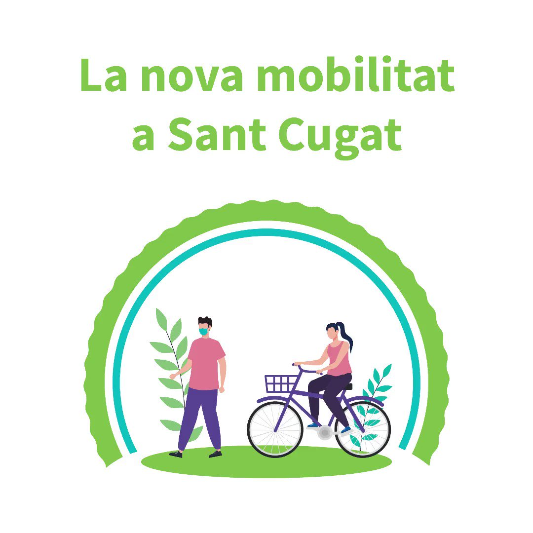 📣Ja coneixeu la nova #AnelladeMobilitatVerda de #SantCugat?  ✅Creem espais més segurs per a la ciutadania🚶♀️🚴♀️ i adaptats a les noves necessitats😷  👉Vols saber més? https://t.co/dQw2ROkv30  @JoseGallardoSTQ @albagordo @MarcoSz4