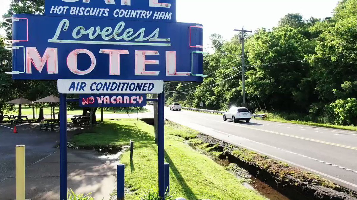 ICYMI: During News4 Today, Drone4 flew over the famous @LovelessCafe , whose dining room just opened to guests TODAY for the first time since March.