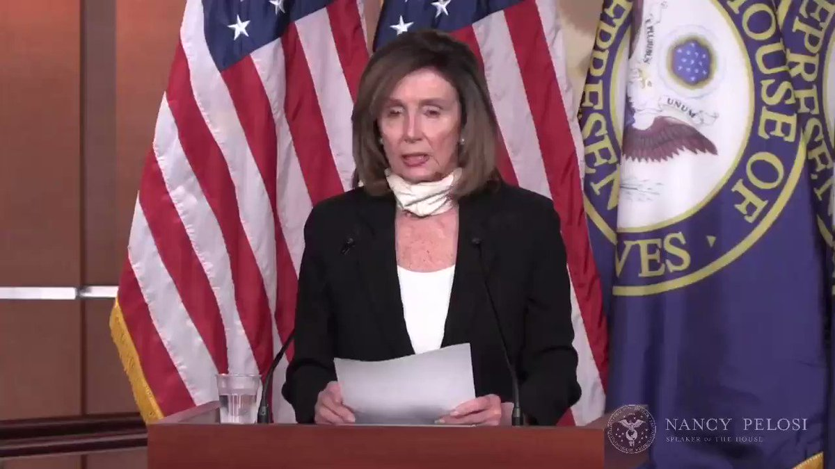 """We saw a murder occur before our very eyes."" ⁦@SpeakerPelosi⁩ minces no words about ⁦Minneapolis ⁩ police officers killing George Floyd and House Democrats' commitment to take concrete action. ""We did see a murder on TV and it wasn't self-defense."" #JusticeForGeorge"