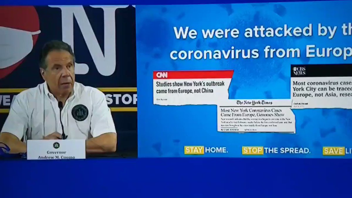 Wait what? The virus really came here mostly from Europe? Yep, 3 million people from Europe to NYC from Jan. to March. And thats JUST NYC. This virus came to the United States from a number of different places. Stopping travel from China was pretty much pointless.
