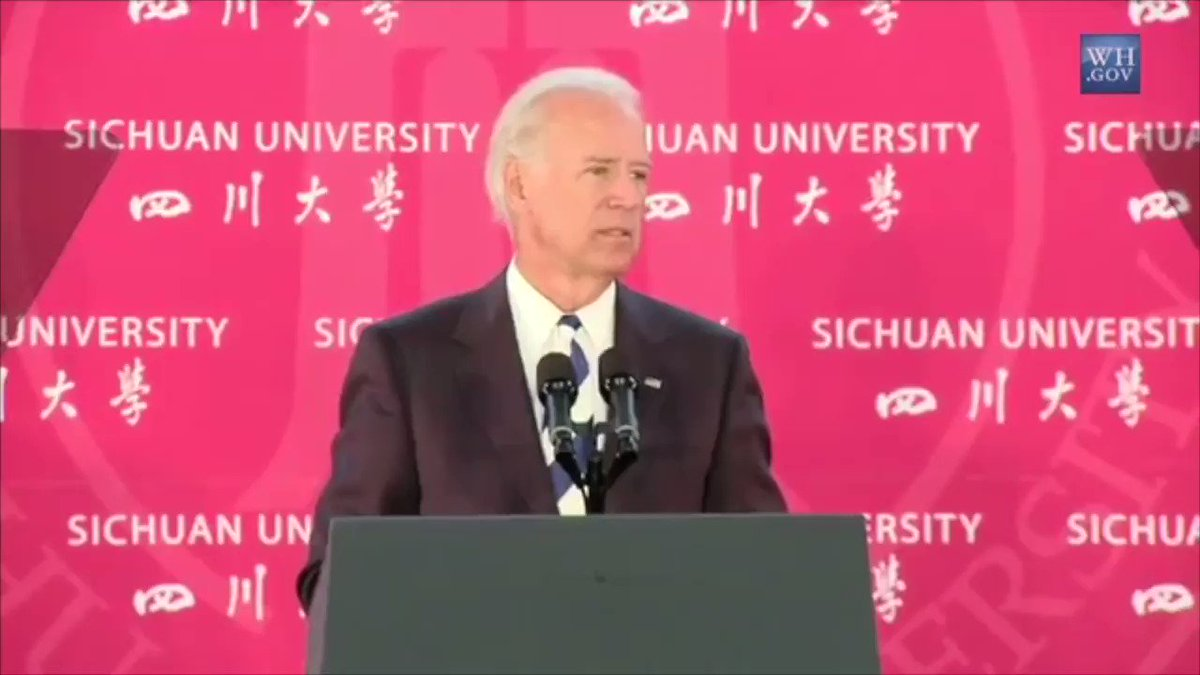 """🚨 ALERT: Biden said in a speech in China...  """"...we have to go BEYOND close ties between Washington and Beijing... go beyond it to include all levels of government, to include classrooms and laboratories, athletic fields and boardrooms.""""  MORE:"""