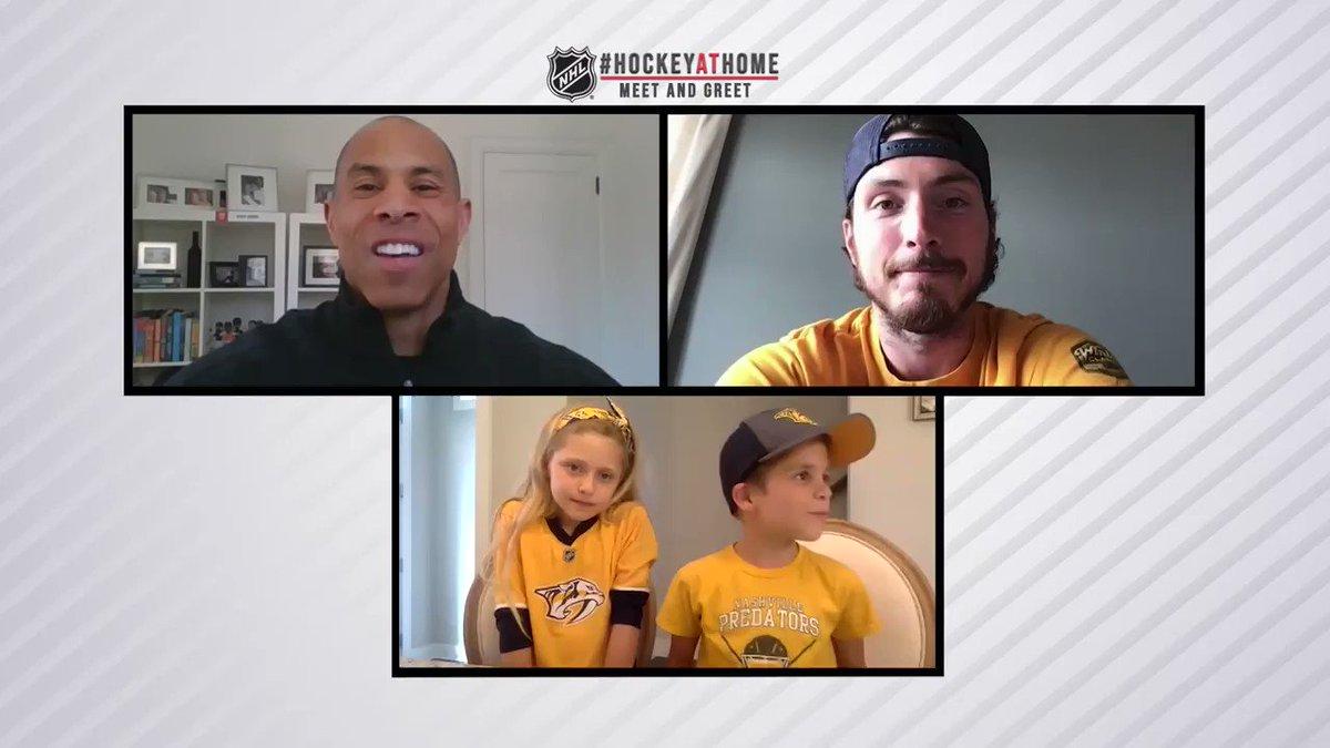 The kids love @Matt9Duchene! 🙌 #HockeyAtHome Watch the full episode ➡️ bit.ly/3gwlXmG