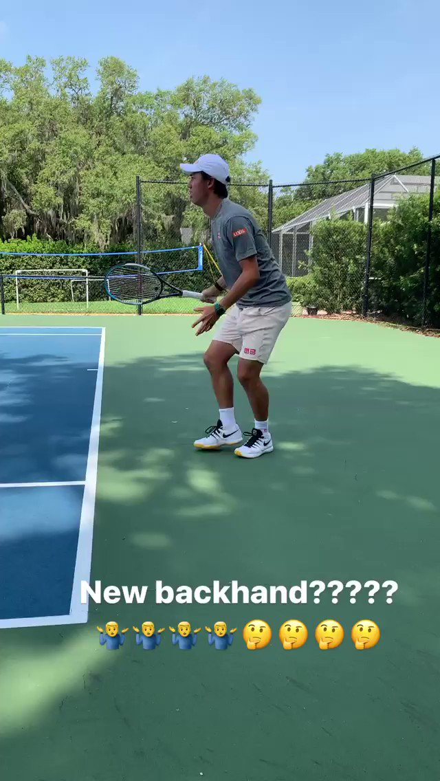 Even Nishikori loves a one-handed backhand 🎾 🎥: @keinishikori (IG)