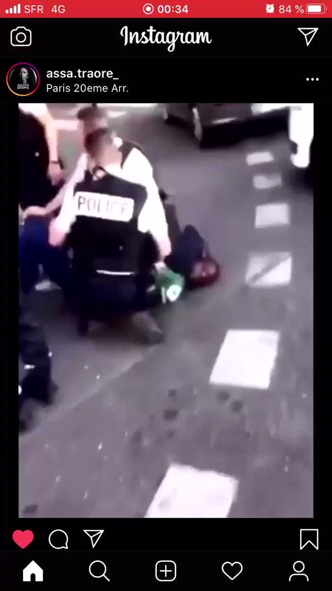 24H plus tard en France... les policiers français reproduisent la même chose... #BlackLivesMatter #JusticeForGeorgeFloyd #JusticePourTous https://t.co/h06J0LsIjS