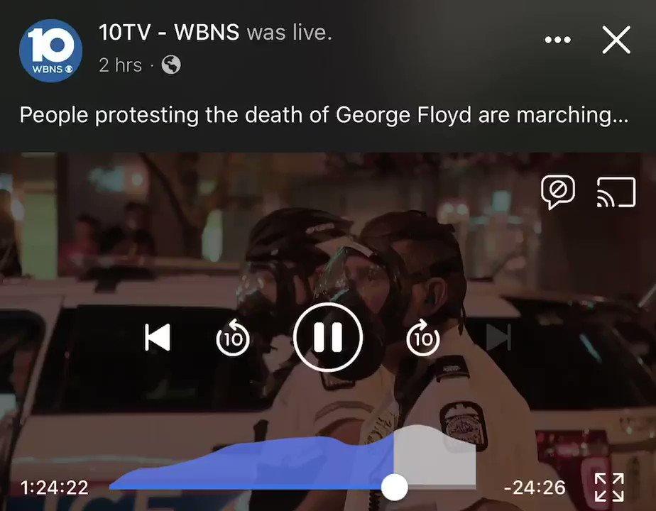 I'm horrified #columbus #GeorgeFloydWasMurdered #GeorgeFloydprotestpic.twitter.com/MguZxTE3ta
