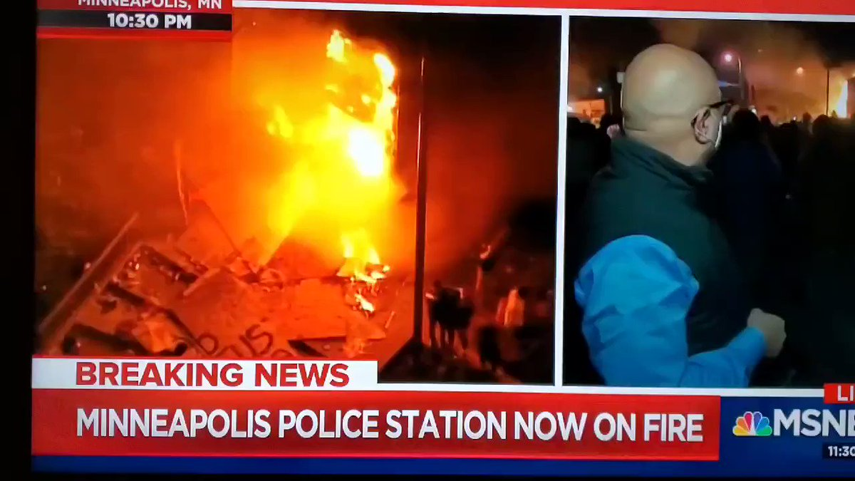 The Minneapolis police department is burning down, and protesters are chanting Whats his name? George Floyd! Nothing will quell the anger of the crowd but the arrest of those cops.
