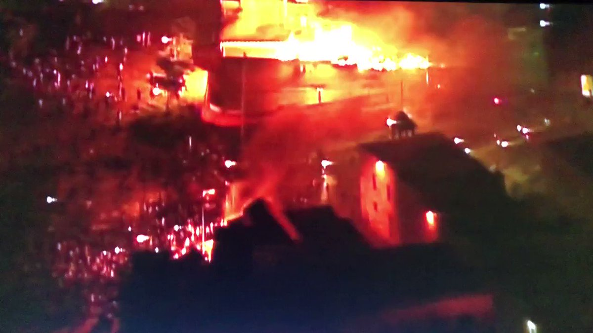 The third precinct police station is now on fire in Minneapolis. The AP is reporting that police and firefighters have been instructed to stand down