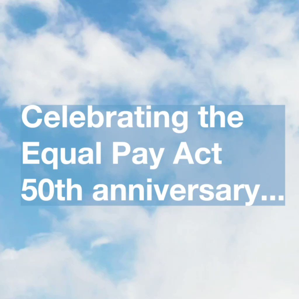 Its 50 years since men and women had to be paid the same for doing the same work, thanks to the Equal Pay Act. Vital principle that people are valued for what they contribute not what sex they are. #equalpayact #50Years