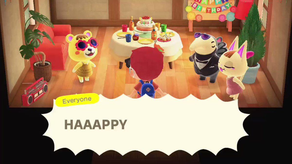 Welp, happy 18th birthday to me, I guess. XD  Gotta love how Tammy put on a surprise party!  #AnimalCrossing #ACNH #NintendoSwitch
