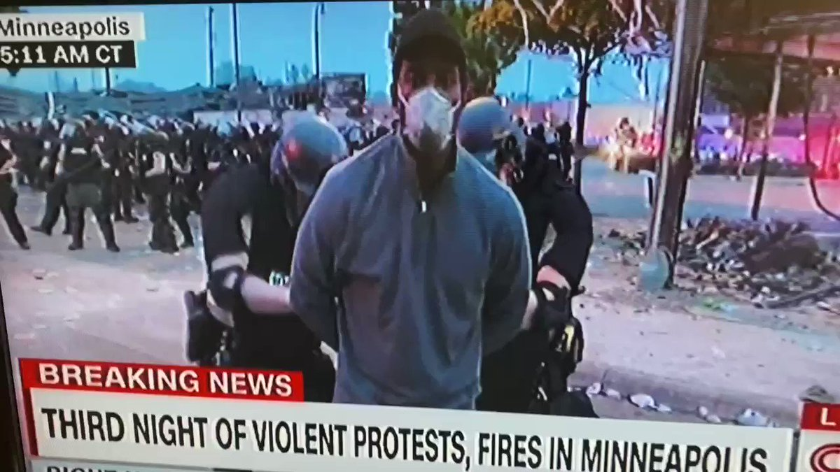 CNN's crew getting arrested in Minneapolis live on air