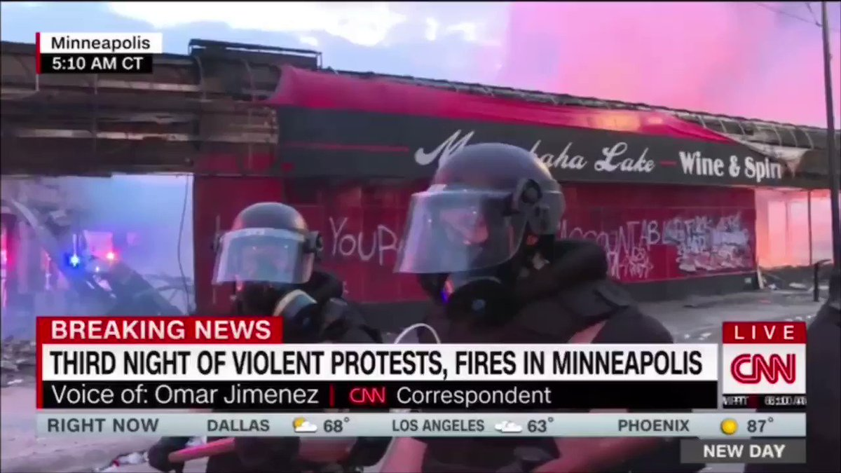This is just unbelievable. I am watching it but I can't believe it. America is broken. In the middle of a state wide protest about police brutality, the #Minneapolis state police arrest a black CNN journalist on live television. They just don't care. #JusticeForGeorgeFloyd