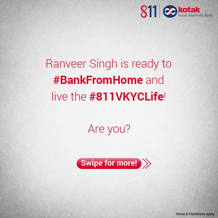 Get ready to #BankFromHome and live the #811VKYCLife with your own full-fledged Kotak 811 Savings Account. Prepare yourself for a hassle-free experience with this quick checklist, presented by #RanveerSingh! To know more, visit: