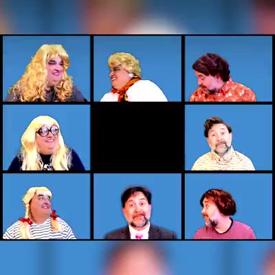 @ThisisDavina were keeping ourselves creative by recreating a TV show or Film everyday over Lockdown, to make the world a little happier! Two men locked down in Scarborough with far too many wigs, big imaginations and a lot of time on their hands! Any chance of a share or RT x