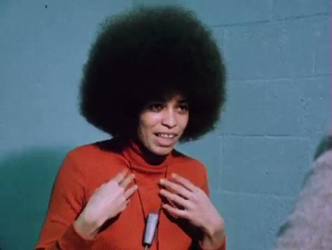 """""""When someone asks about violence... it means that the person asking that question has absolutely no idea what Black people have been through"""" - Angela Davis on violence (1972)"""
