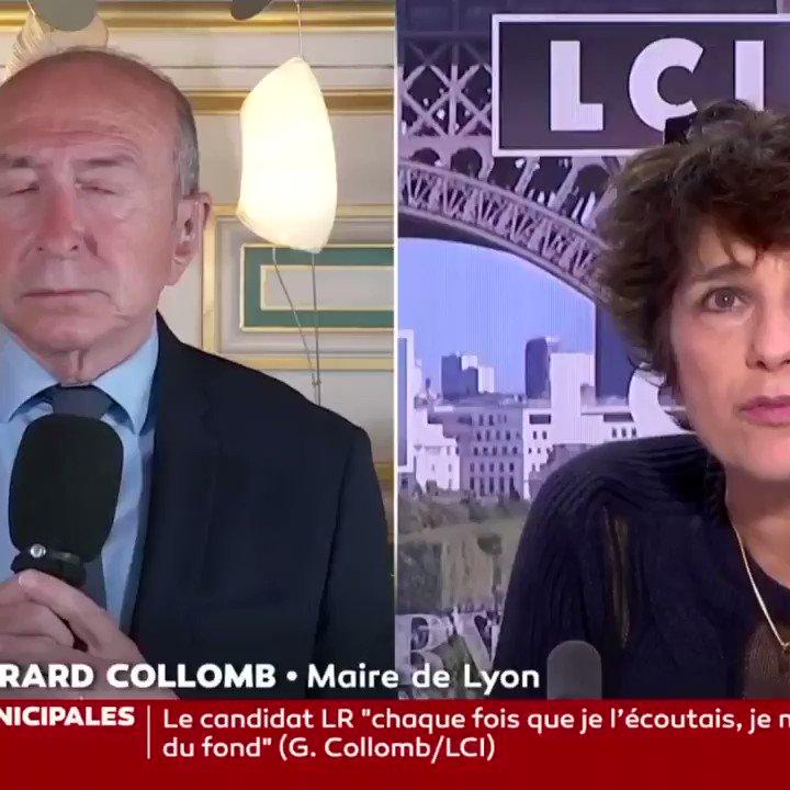 🔴 Pour @gerardcollomb, il n'y a pas de problème de sécurité à #Lyon. Vraiment ? ⤵️