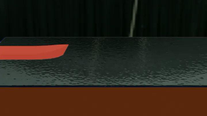 A better #Blender fluids simulation, tank test with #mantaflow.. #boat #design #b3dpic.twitter.com/72cwVxXq8h