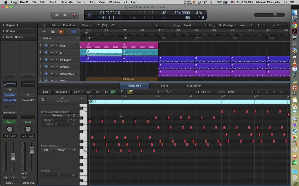 """""""Alert April"""" in progress. This is the breakdown going into the second motif.  #technomusic #electronicmusic #logicpro pic.twitter.com/oMONjLuHZm"""
