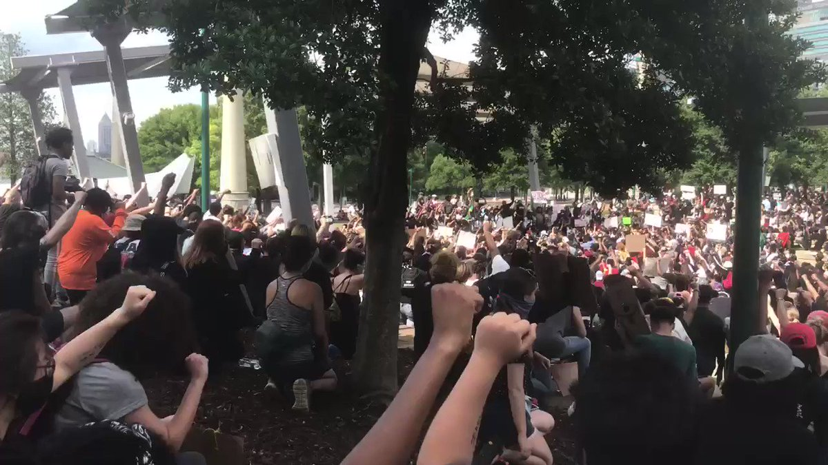 A powerful scene in Atlanta right now, this gives me chills.