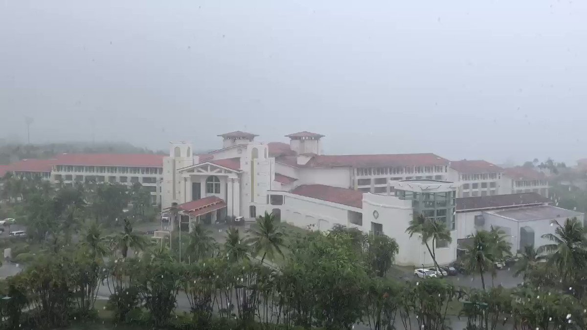 Rainy Guam today. #Guam #Weather pic.twitter.com/j981tBeAGC – at Leo Palace Resort Guam