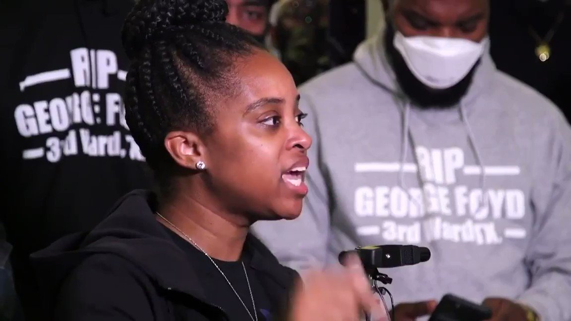 SPEAK SISTER!! They want the looting to stop? Then THEY got to stop looting our black brown and native brothers and sisters.. NO JUSTICE NO PEACE ✊🏾@tamikadmallory #georgefloyd