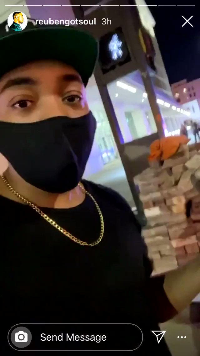 """They"" staged a pallet of bricks in Dallas"
