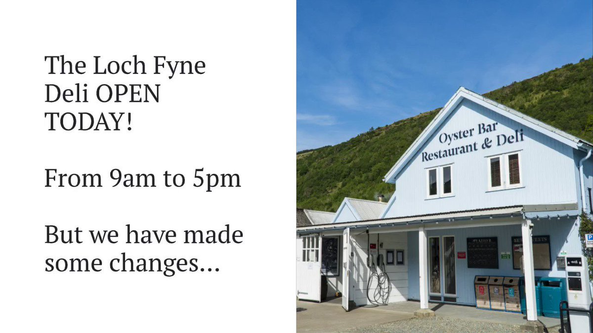 The Loch Fyne Deli at Cairndow. OPEN TODAY from 9am to 5pm. #LochFyne #LoveSeafood #SupportLocalScotland