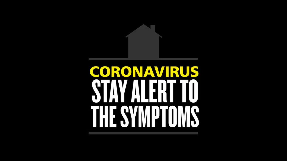#StayAlert to the symptoms. 🌡️High temperature 🗣️New continuous cough 👅Loss of taste 👃 Loss of smell