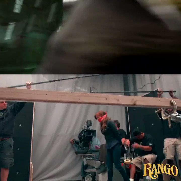 "How ""Rango"" was filmed before animation. Not motion capture, but ""emotion capture"".  ""Rango"" Gore Verbinski (2011)  #filmmaking #behindthecameras #behindthescenes #animation #motioncapture #movie #film #vfx #johnnydepp #islafisherpic.twitter.com/WYGtvRUsMT"