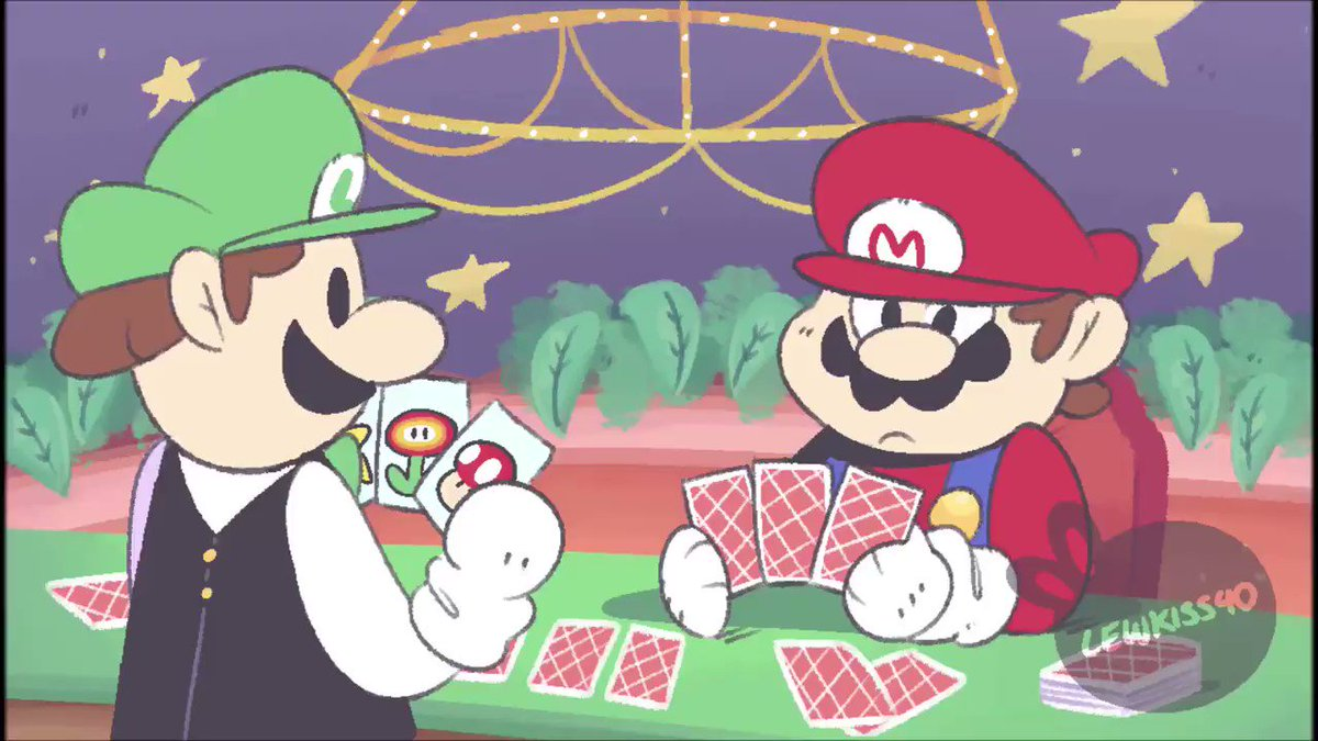 Luigi is the king of Poker, He just cant loose somehow.