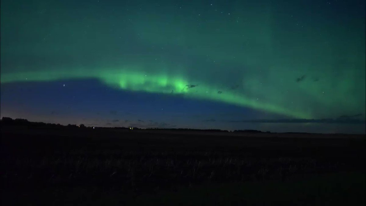 Real quick, slapped together, unedited #Aurora timelapse from the early morning of May 30th 2020 South of #Tisdale #sask  @chunder10  @TamithaSkovpic.twitter.com/qB1Jcpqyo2