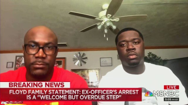 Brother of George Floyd describes his call with President Trump: He didn't give me an opportunity to even speak... I was trying to talk to him, but he just kept like pushing me off, like I don't want to hear what you're talking about. And I just told him I want justice.