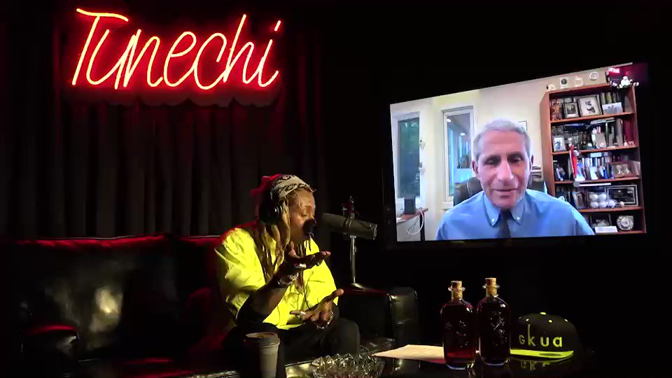 Yesterday's iconic episode of #YoungMoneyRadio on @applemusic featured a very special guest Dr. Anthony Fauci. Hope y'all stayin' safe out there!