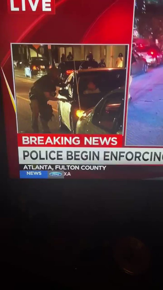 Here is the video. On LIVE TV the APD just broke car windows, slashed tires, tazed both passengers and arrested both passengers for NOTHING. RIPPED THEM OUT OF THER CAR. #AtlantaRiots #ATLFORUS #BlackLivesMatter https://t.co/9XFDEdq7qr