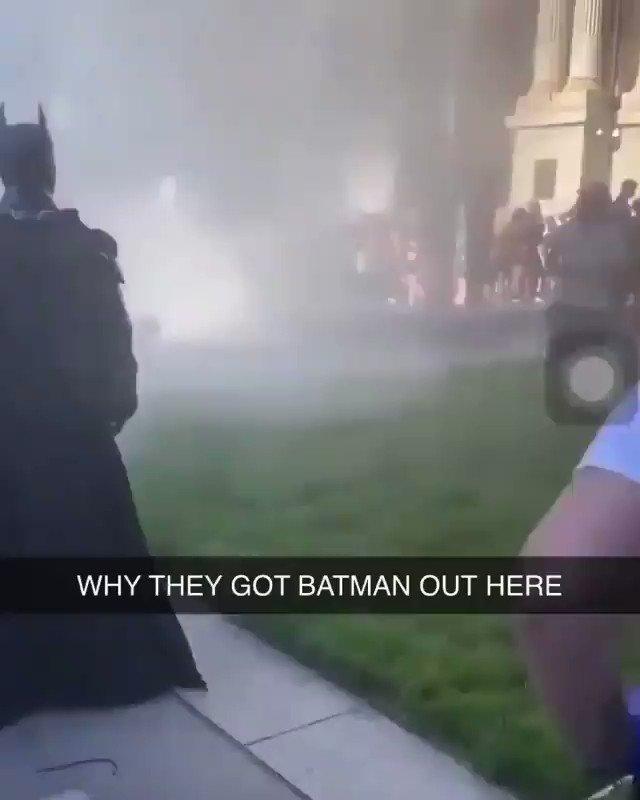 yk shits fucked when batman shows up at the riots 💀💀 #riots2020