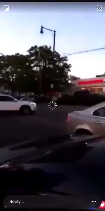 Store owner pulls up near his store, sees would-be looters, and fires shotgun at them.