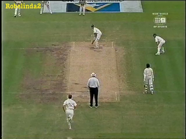 Classic old VVS Laxman vs Glenn McGrath gold! McGrath smashes him on the head, and the reply from Laxman is ALL CLASS!!! Thats the best way to retaliate!- Tony Greig..... GOLD!