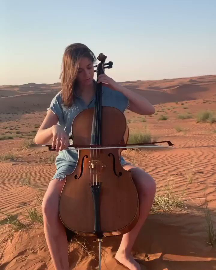 Bach in the desert by Camille Thomas  https://www.facebook.com/CamilleThomasCellist/videos/175622917098310/… #Bach #desert #CamilleThomas #cello #cellist #classical #music #musician #culture #Inspire #creative #video @CamilleThomasOF #globetrotterpic.twitter.com/YyShdQy5qf