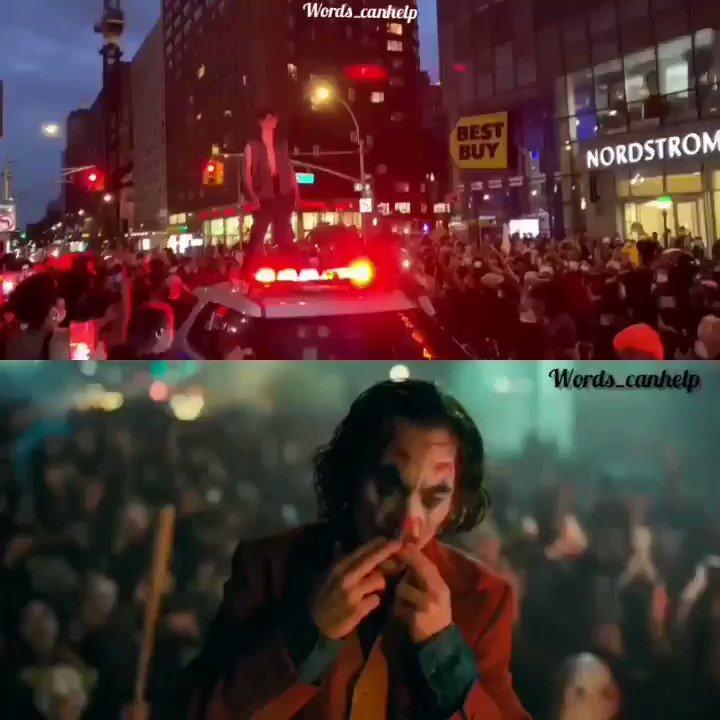 """𝑨𝒔 𝒚𝒐𝒖 𝒌𝒏𝒐𝒘, 𝒎𝒂𝒅𝒏𝒆𝒔𝒔 𝒊𝒔 𝒍𝒊𝒌𝒆 𝒈𝒓𝒂𝒗𝒊𝒕𝒚…𝒂𝒍𝒍 𝒊𝒕 𝒕𝒂𝒌𝒆𝒔 𝒊𝒔 𝒂 𝒍𝒊𝒕𝒕𝒍𝒆 𝒑𝒖𝒔𝒉."" #GeorgeFloydProtests #GeorgeFloydMurder #newyorkprotest #NewarkProtest #JusticeForGeorgeFloyd #JusticeForGeorge #Joker #bellaciaopic.twitter.com/TDdOkZgAWc"