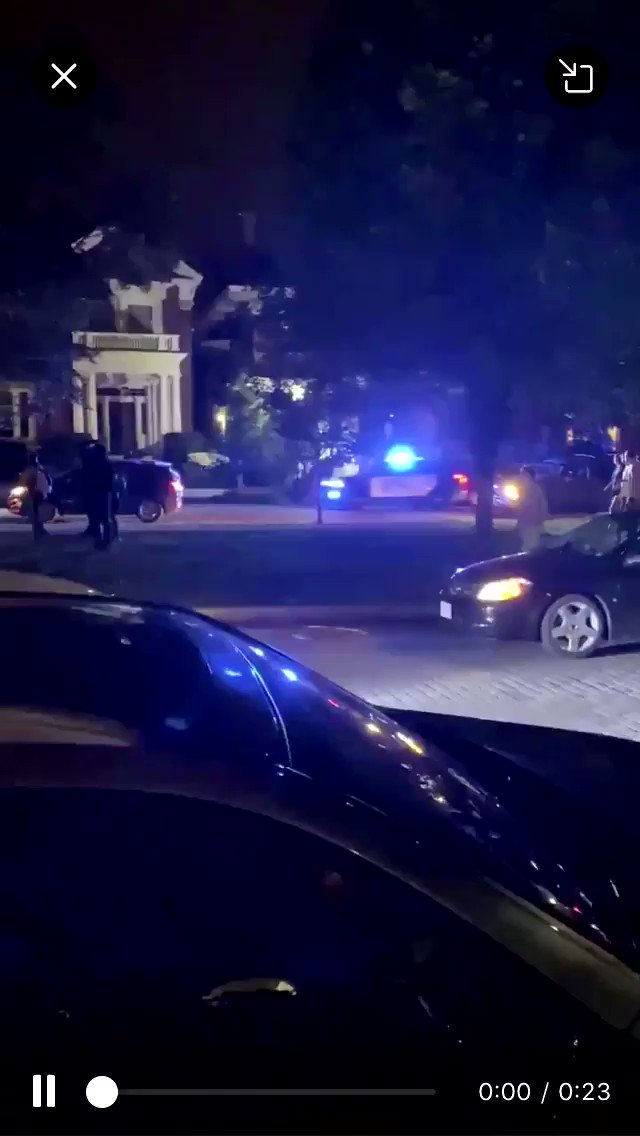 Video sent to us: RPD vehicle swerving off road to drive through median full of protesters. @BeQueerDoCrime https://t.co/q4n9XeQx2V