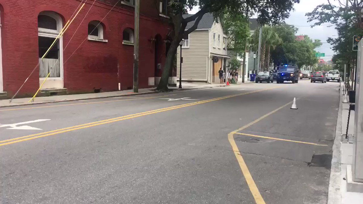 More SWAT & law enforcement driving through streets of downtown #Charleston.