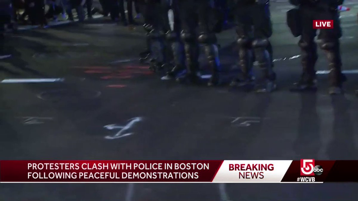 BREAKING: #BostonPolice say Efforts to hurt and harm police officers continue to intensify in our city. #BostonProtests