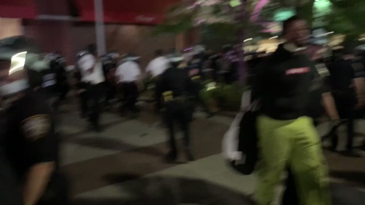 It's exploded at Barclays. Many arrests. Cop hit me with baton when I was filming