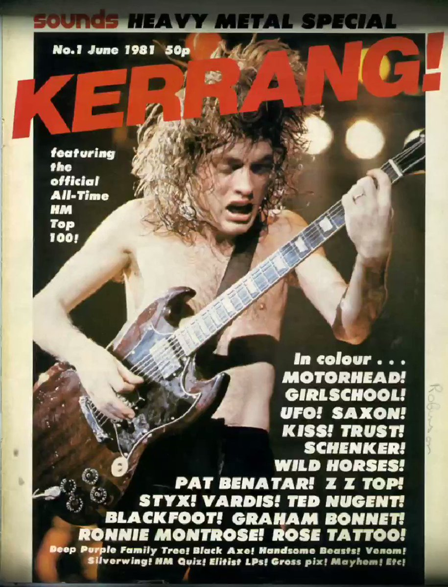 On this day in 1981, the first issue of Kerrang is published with AC/DC on the front cover.