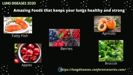 A #healthydiet is long term investment to a better #lifestyle Here are some amazing #foods that keeps your #lung stronger and #healthy  #FattyFish #Apples #Apricots #Broccoli #Berries That keep you away from #pneumonia #COPD #asthma #respiratoryillnesses #Lungdiseases2020