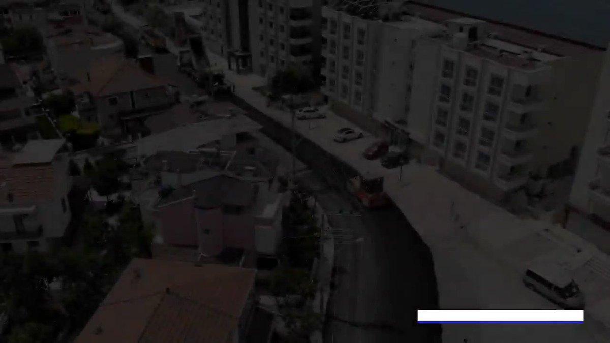 Image for the Tweet beginning: Belediye ekiplerimiz hafta sonundaki sokağa