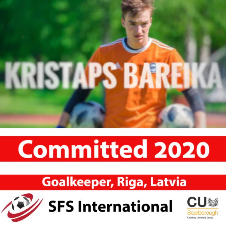 PLAYER ANNOUNCEMENT We would like to welcome Kristaps Bareika as our first #international #soccer #recruit. Kristaps is a goalkeeper, who has attended Riga Secondary School Number 49 in #Latvia. We look forward to working with him at #SFSSoccer in conjunction with @CUScarborough.pic.twitter.com/4wDcf5Rche