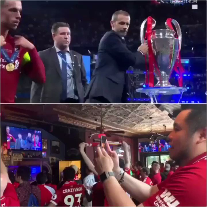 #OTD 1 Year Ago we made it #6TIMES and it still feels surreal. Built up anxiety from an entire season along w/ my own personal emotions created this genuine reaction. All the feels and goosebumps still when I rewatch this. WE ARE LIVERPOOL, THIS MEANS MORE. #YNWA @LFC @LFCUSA