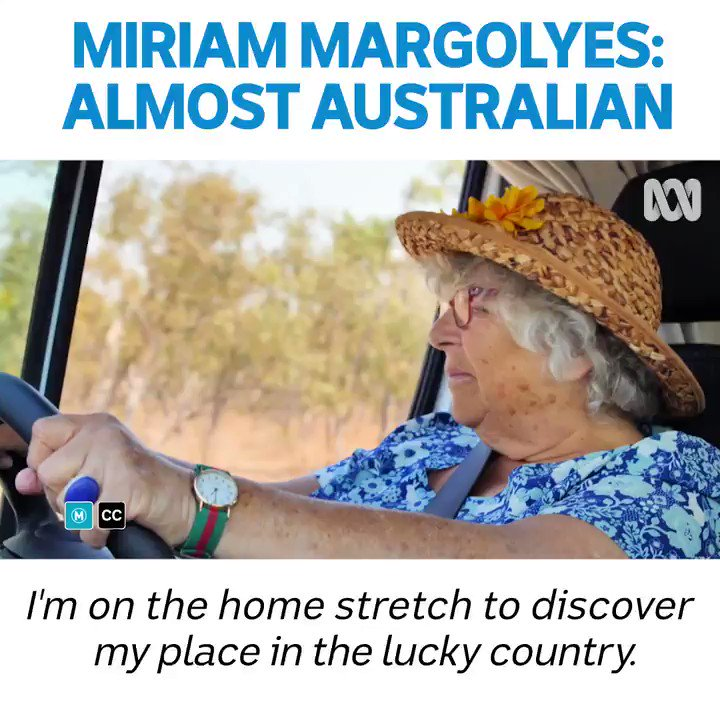 On the final leg of her journey, Miriam travels to the Gulf of Carpentaria before making her way down to Queensland and along the coast to discover what 'The Lucky Country' means.  Tune in tonight 8:30pm @ABCTV  #AlmostAustralianTV #MiriamMargolyes