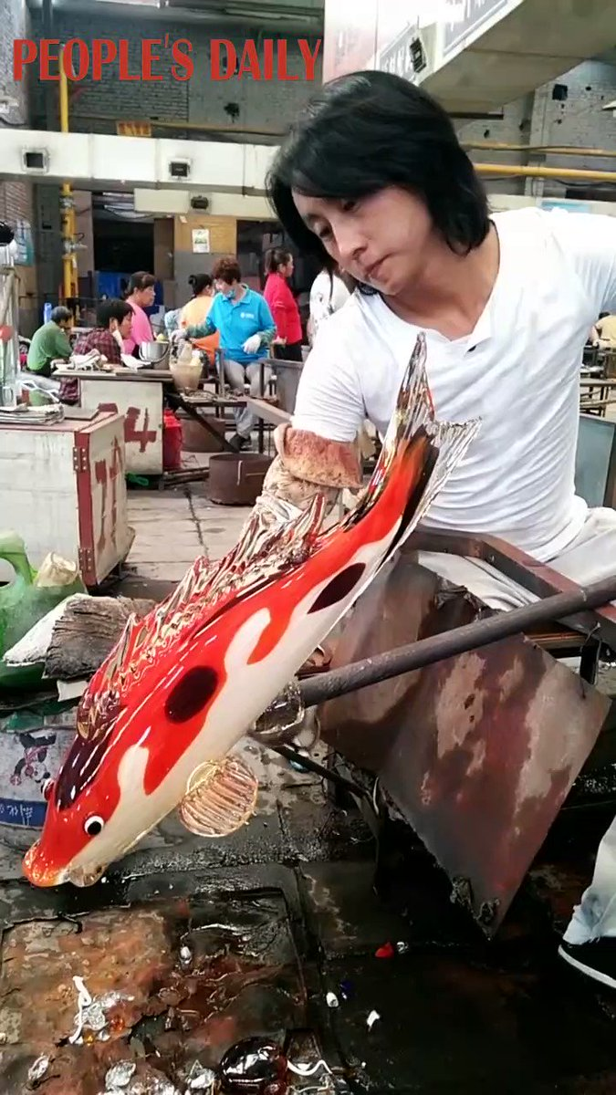 Wooden watermill, vivid colored-glaze fish, and pencil stub carvings, Chinese craftsmen promote delicate folk arts that have regained popularity thanks to short video platforms. https://t.co/q9urqLpBCH https://t.co/DHj1xiEftB