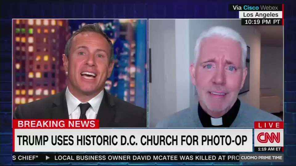 No big deal. Just Fredo and CNNs far-left, in-house Catholic priest to mock and call into question whether pro-life conservatives and people on the right are Christians.